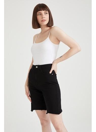 DeFacto Basic Slim Fit İp Askılı Çıtçıtlı Body Siyah